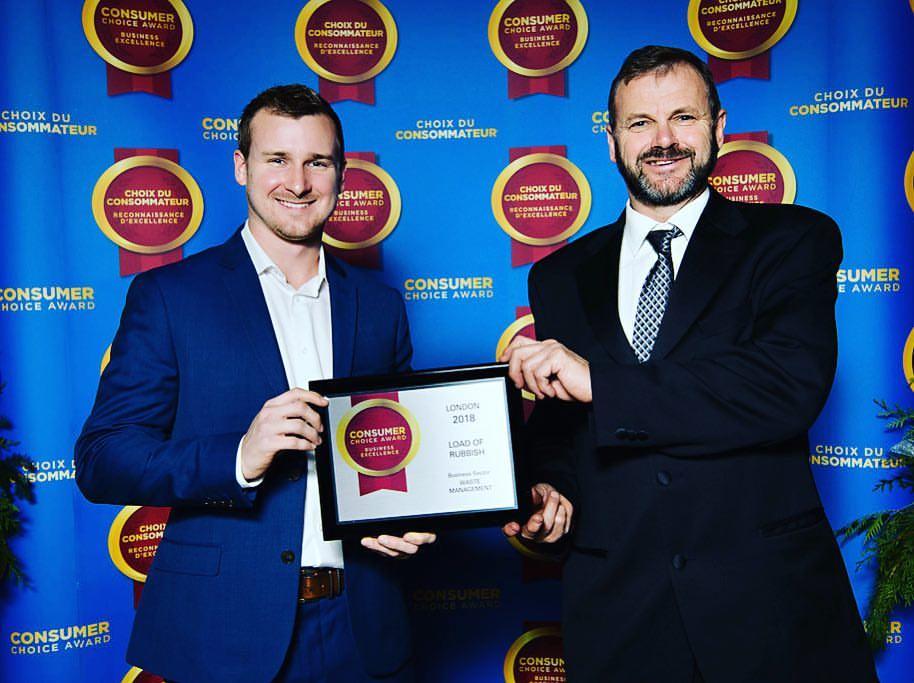 Chris and Nathan accepting Consumer Choice Award